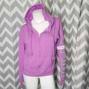 VS PINK purple zip up hoodie